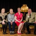 Rooleissa: vasemmalta Marika Riikonen, Teemu Mäkinen, Leila Väisänen ja Eero Väätäinen.