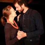 Rooleissa: Katja Harinen ja Toni Lähteenmäki