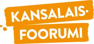 Kansalaisfoorumin valko-oranssi logo